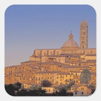 Europa, Italia, Toscana, Siena. Siglo XIII 3 Pegatina Cuadrada
