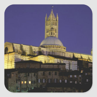Europa, Italia, Toscana, Siena. Siglo XIII Pegatina Cuadrada