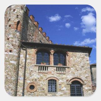 Europa, Italia, Umbría, Chianti, Montebenichi. Colcomanias Cuadradas Personalizadas