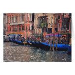 Europa, Italia, Venecia, góndolas en canal Tarjeta De Felicitación