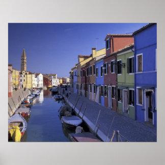 Europa, Italia, Venecia, isla de Murano, colorida Póster