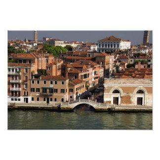 Europa, Italia, Venecia. Opiniones del canal. LA U Cojinete
