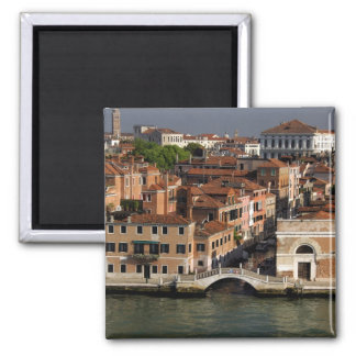 Europa, Italia, Venecia. Opiniones del canal. LA U Imán Cuadrado