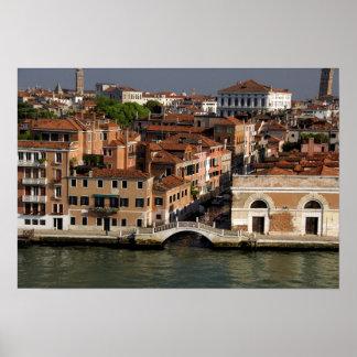 Europa, Italia, Venecia. Opiniones del canal. LA U Póster