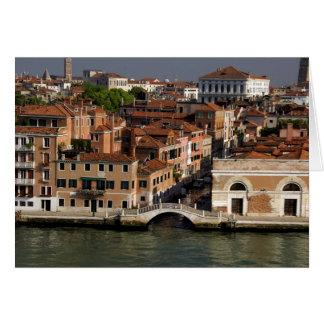 Europa, Italia, Venecia. Opiniones del canal. LA U Tarjeta De Felicitación