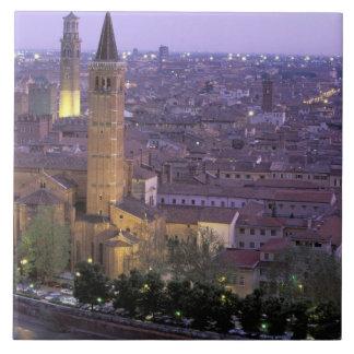 Europa Italia Véneto Verona Visión desde Caste Teja Cerámica