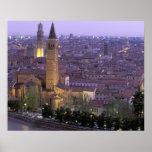 Europa, Italia, Véneto, Verona. Visión desde Caste Impresiones