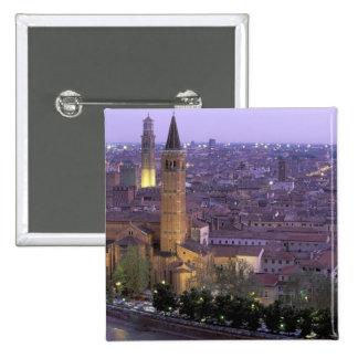Europa, Italia, Véneto, Verona. Visión desde Caste Pin Cuadrada 5 Cm