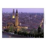 Europa, Italia, Véneto, Verona. Visión desde Caste Felicitacion