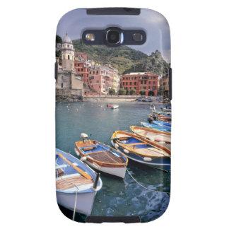 Europa, Italia, Vernazza. Barcos brillantemente pi Samsung Galaxy SIII Funda