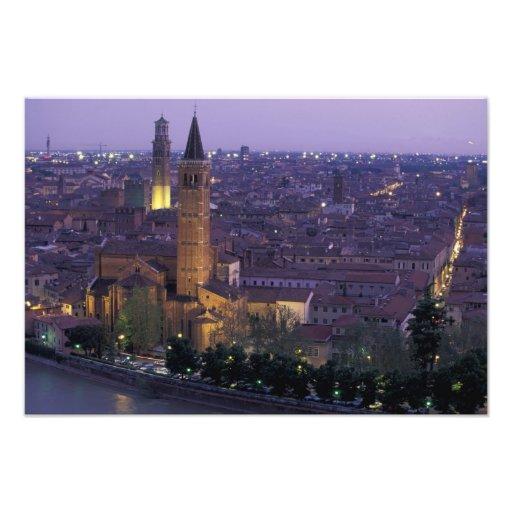 Europa, Italia, Verona, visión desde el Castel S. Impresiones Fotográficas
