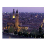 Europa, Italia, Verona, visión desde el Castel S. Postal
