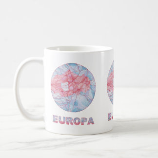 Europa Jupiters Moon Art Coffee Cup