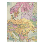 Europa - mapa geológico de Europa Postales