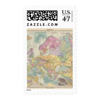 Europa - mapa geológico de Europa Sello Postal