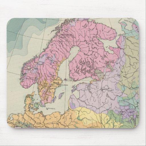 Europa - mapa geológico de Europa Tapetes De Raton