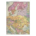 Europa - mapa geológico de Europa Tarjeta De Felicitación