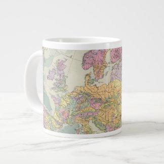 Europa - mapa geológico de Europa Taza De Café Grande