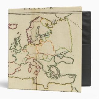 """Europa, montañas y esquema de los ríos carpeta 1 1/2"""""""