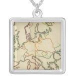 Europa, montañas y esquema de los ríos colgante cuadrado
