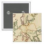 Europa, montañas y esquema de los ríos pin cuadrado