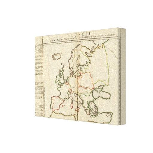 Europa, montañas y ríos impresion en lona