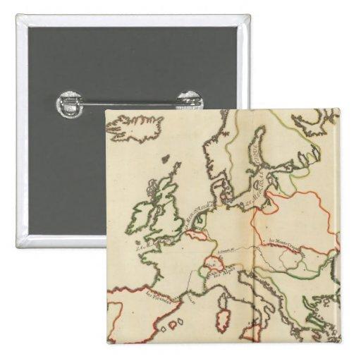 Europa, montañas y ríos pin cuadrado