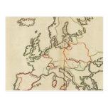 Europa, montañas y ríos postal