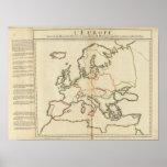 Europa, montañas y ríos poster