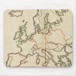 Europa, montañas y ríos tapete de raton