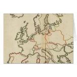 Europa, montañas y ríos tarjeta de felicitación
