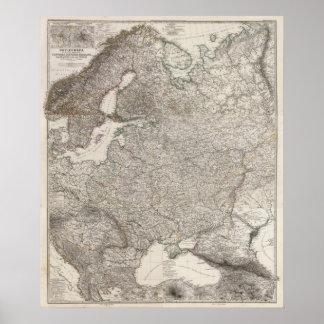 Europa Oriental compuesta, Noruega, Suecia Poster