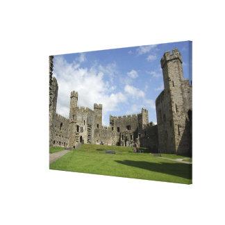 Europa, País de Gales, Caernarfon. Castillo de Cae Impresiones En Lona Estiradas