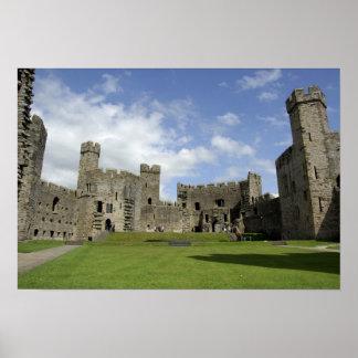 Europa, País de Gales, Caernarfon. Castillo de Cae Póster