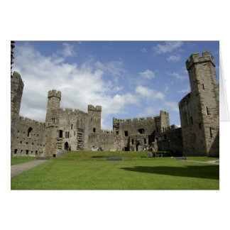 Europa, País de Gales, Caernarfon. Castillo de Cae Tarjeta De Felicitación