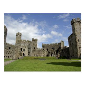 Europa, País de Gales, Caernarfon. Castillo de Tarjeta Postal