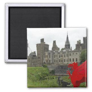 Europa, País de Gales, Cardiff. Castillo de Cardif Imán Cuadrado