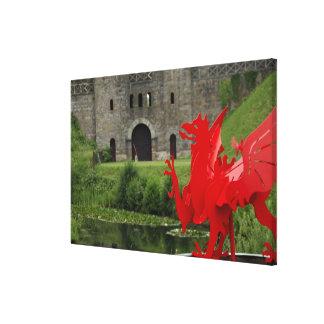Europa, País de Gales, Cardiff. Castillo de Cardif Lienzo Envuelto Para Galerías