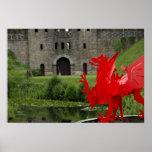 Europa, País de Gales, Cardiff. Castillo de Cardif Posters