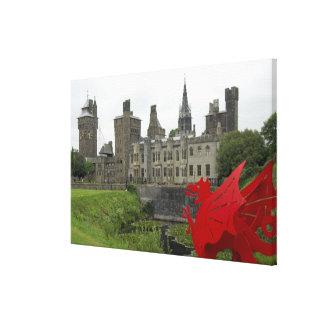 Europa, País de Gales, Cardiff. Castillo de Impresiones En Lona