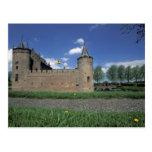 Europa, Países Bajos, castillo de Muiden Muiden Tarjetas Postales