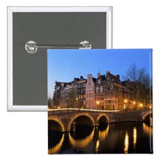 Europa, Países Bajos, Holanda, Amsterdam, Pin Cuadrado
