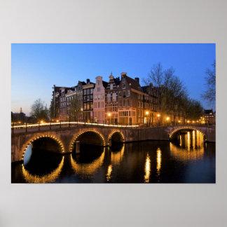 Europa, Países Bajos, Holanda, Amsterdam, Póster