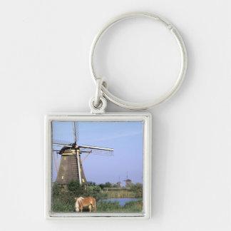 Europa, Países Bajos, Zuid Holanda, Kinderdijk. 2 Llavero Personalizado