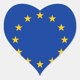 Europa Pegatina De Corazón Personalizadas