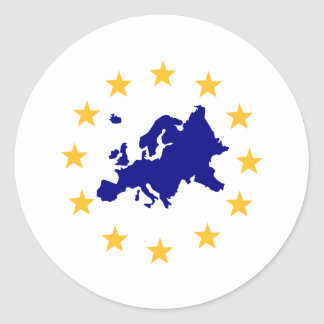 Europa Pegatina Redonda
