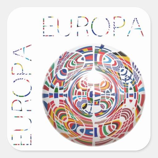 Europa Pegatina Cuadrada
