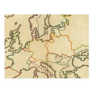 Europa por la religión 2 tarjetas postales