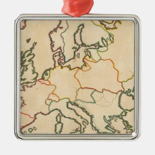 Europa por la religión 3 ornaments para arbol de navidad