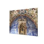 Europa, Portugal, Obidos. Arquitectónico colorido Lienzo Envuelto Para Galerías